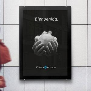 Identidad corporativa de la nueva Clínica Acuario en Valencia