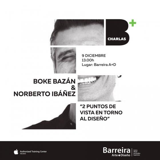 Boke Bazán y Norberto Ibáñez dan una conferencia en Barreira