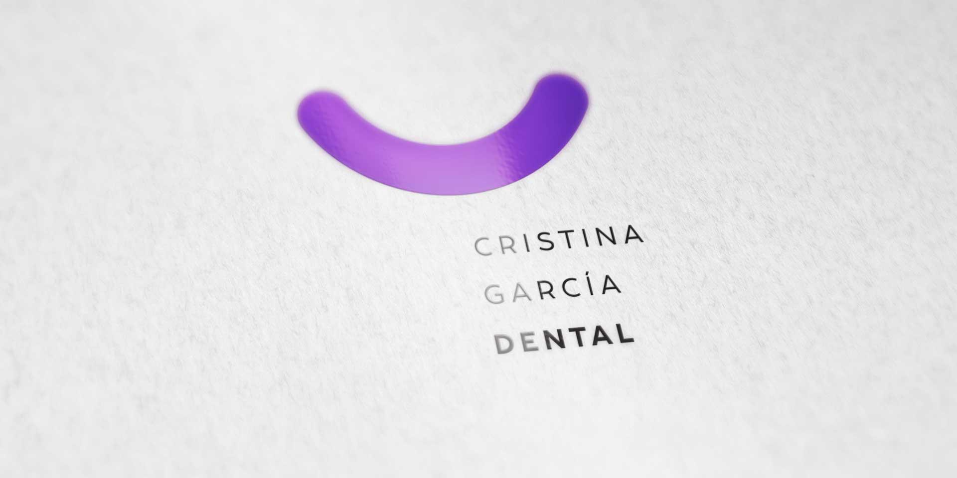 Nuevo logotipo y programa de identidad corporativa para Cristina García Dental