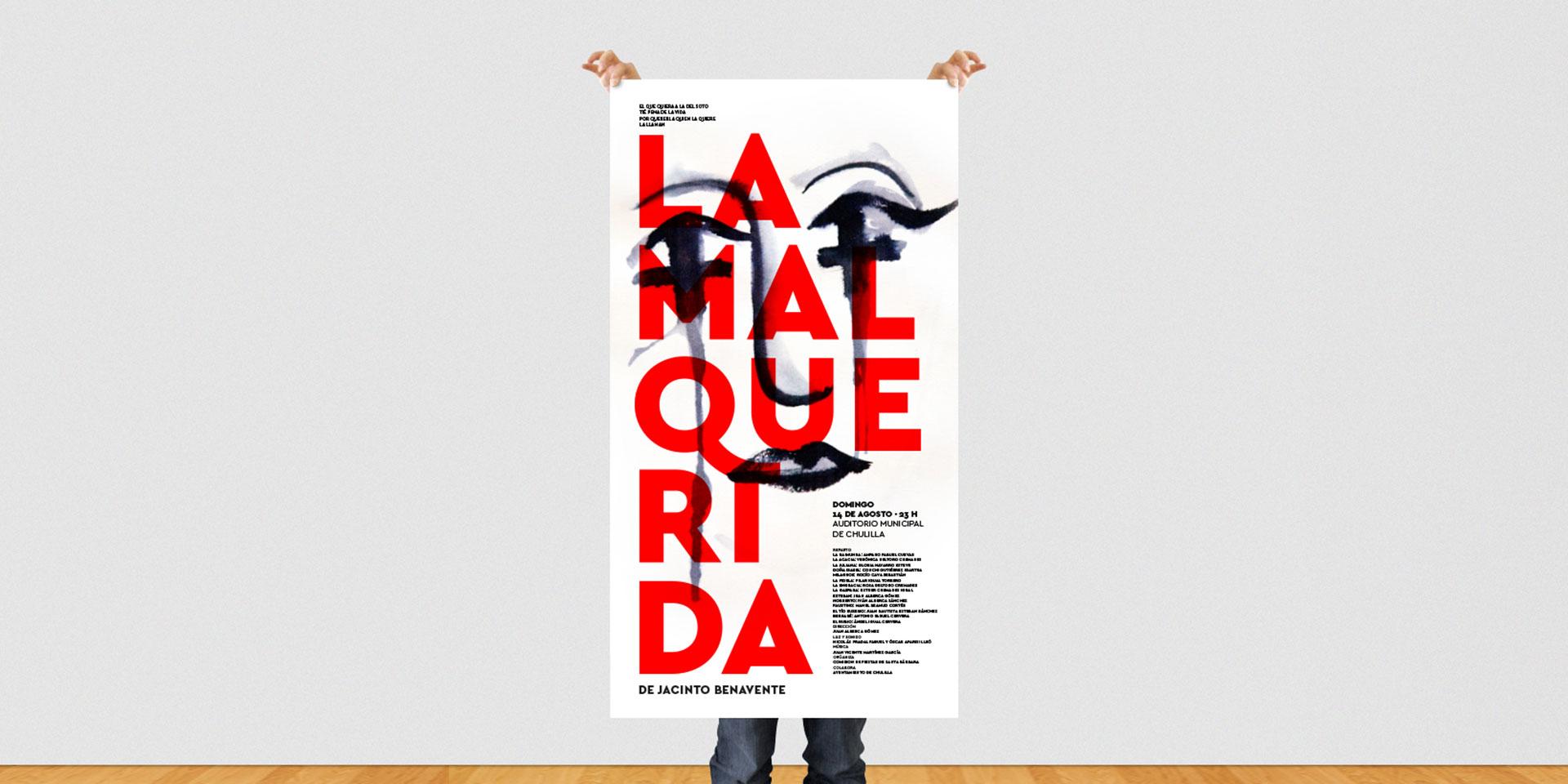Diseño del cartel para la obra de teatro La Malquerida de Jacinto Benavente