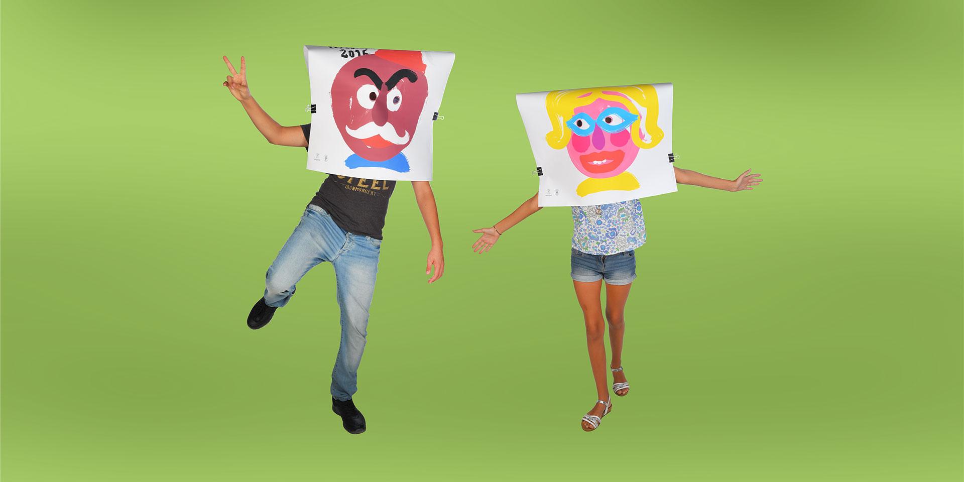 """Un diseño de cartel """"a dos caras"""". Bocairent, les festes d´estiu."""