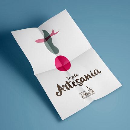 flyer centre artesania comunitat valenciana diseno grafico