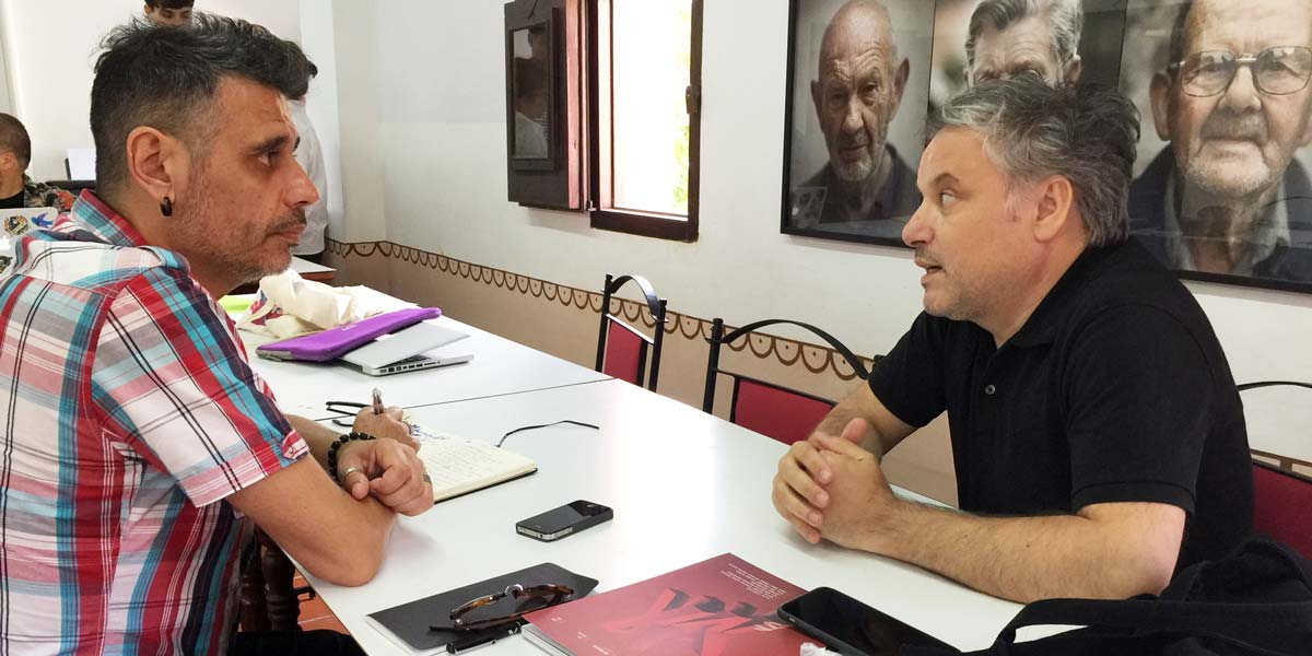Fernando Gutiérrez y Boke Bazán en Albarracín