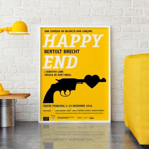 El cartel de Happy End en DissenyCV