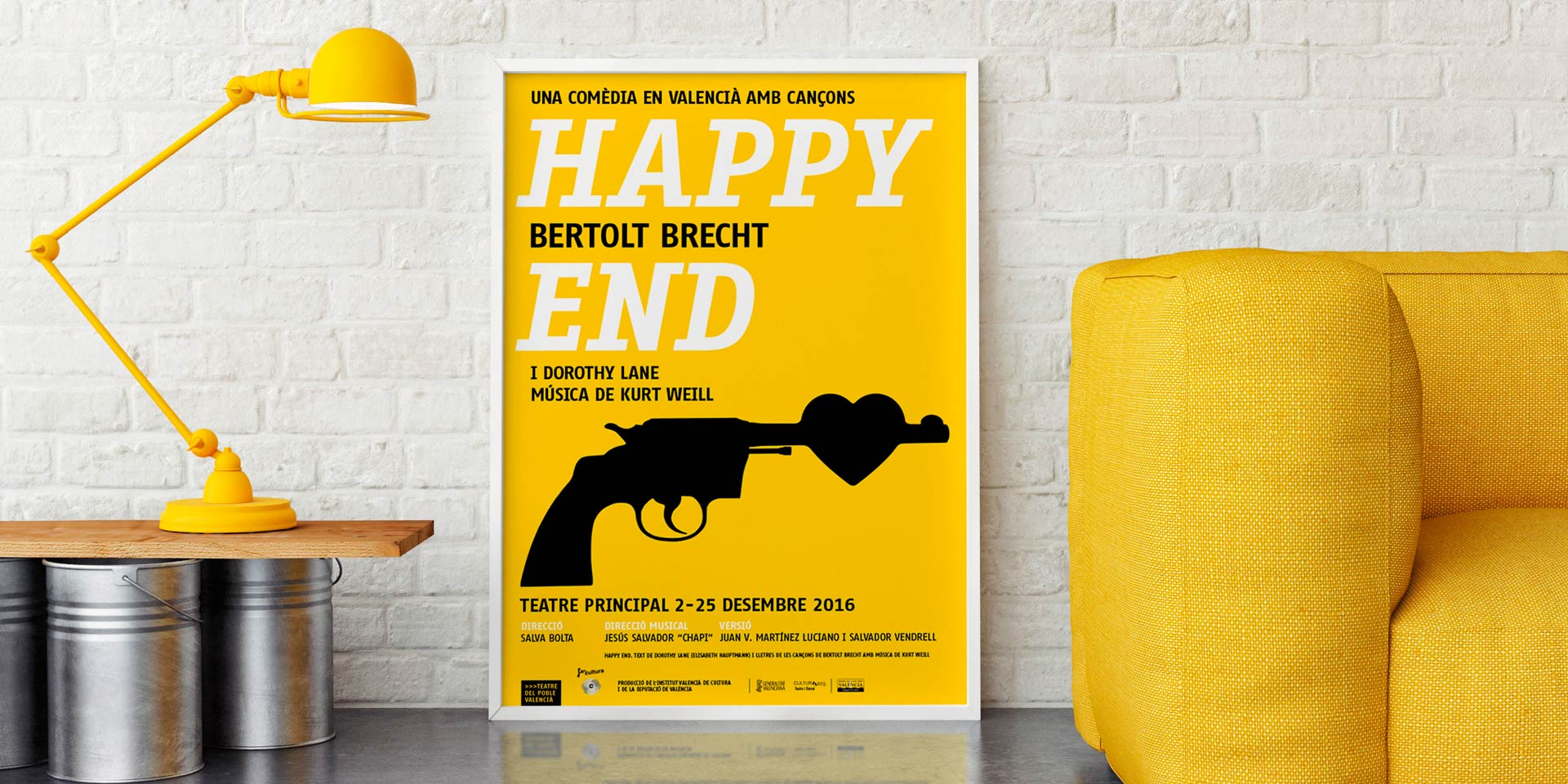 El cartel de Happy End en DissenyCV