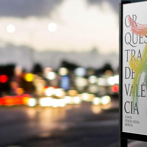 Diseño de la imagen del 75 aniversario de la Orquestra de València