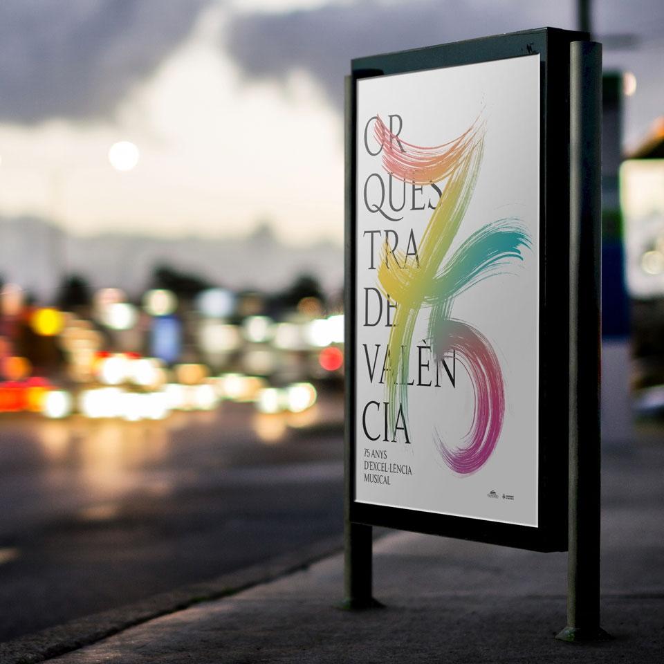Imagen del 75 aniversario de la Orquestra de València