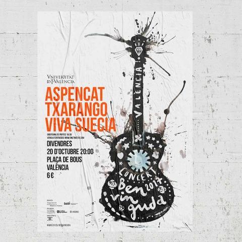 Diseño para un festival de música: El concert de benvinguda