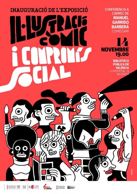 """Nociones Unidas participa de la exposición itinerante """"Il·lustració, còmic i compromís social"""""""