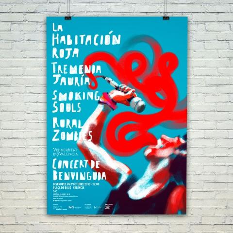 Diseño del cartel para el Concert de Benvinguda