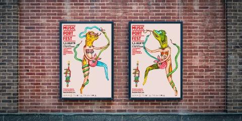 Diseño de imagen para la segunda edición del Music Port Fest