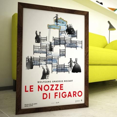 """Diseño del cartel de la ópera """" Le Nozze di Figaro"""""""