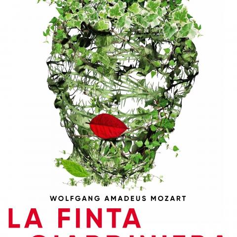 Diseño del cartel de la ópera La Finta Guiardiniera