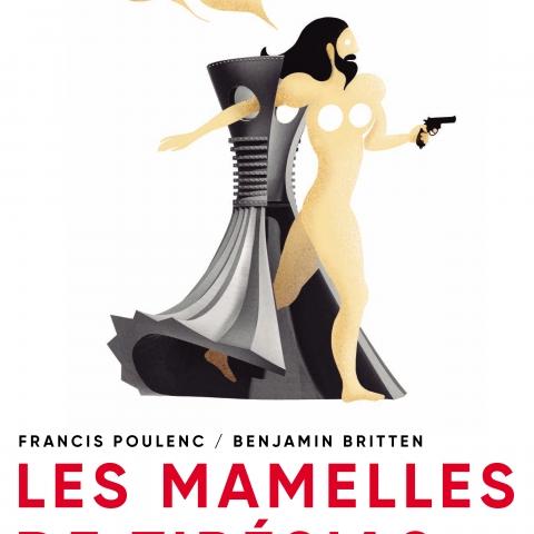 Diseño del cartel de la ópera Les Mamelles de Tirésias
