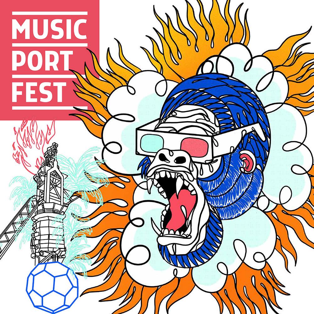 Diseño Gráfico para el Music Port Fest 2020